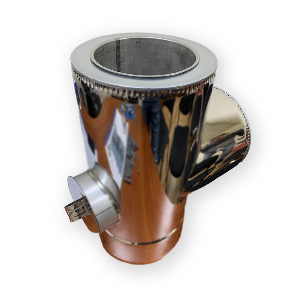 Трійник з ревізією ø 200/260 н/н 0,6 мм - Фабрика ZIG