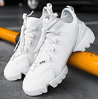Женские кроссовки Dior D-Connect White 1в1 как Оригинал! ТОП (ААА+)
