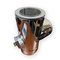 Трійник з ревізією ø 150/220 н/оц 0,6 мм - Фабрика ZIG