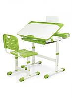 Стол со стулом детская парта Bambi G- 3823А-5 Бело-зеленая (G- 3823А-5)