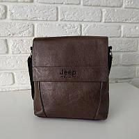 "Мужская кожаная сумка ""Jeep Classic Medium Brown"", фото 1"