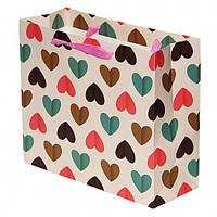 Подарочный Пакет Сердца 27 см