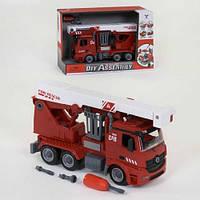 Игрушечная разборная пожарная машинка на шурупах 9080A: размер 36см (свет + звук)
