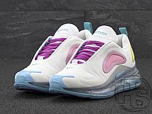Женские кроссовки Nike Air Max 720 White/Aqua-Pink-Green AR9293-102, фото 3