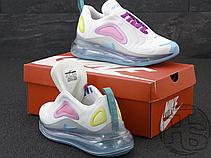 Женские кроссовки Nike Air Max 720 White/Aqua-Pink-Green AR9293-102, фото 2