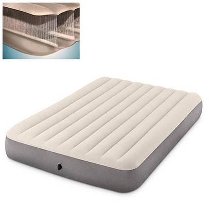 Двуспальный надувной матрас Intex 64103 152-203-30 см серый, фото 2
