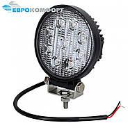 Робоча Фара LED 27W/60° (9x3W, 1890 lm, широкий промінь 60°) 9 ламп