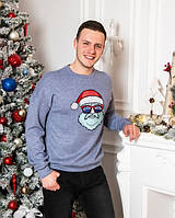 Новогодний зимний свитшот для мужчин Санта