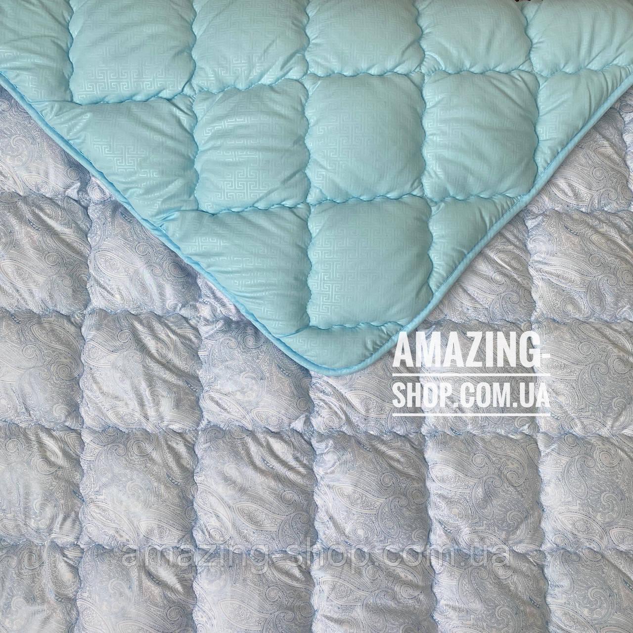 Одеяло на холлофайбере ОДА 200х220 см | Тепла ковдра, наповнювач холлофайбер. Стеганое одеяло ОДА
