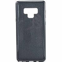 Силиконовый чехол накладка Fashion Case Glitter 3 in 1 для Samsung Galaxy Note 9 черный