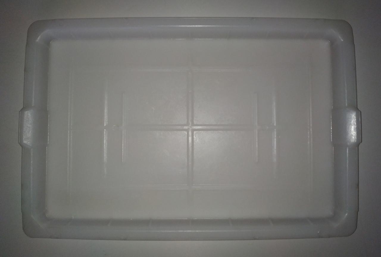 Пластиковая крышка от контейнера Б/У. 500х330х25мм. Крышка Политор