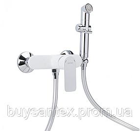 Гігієнічний душ зі змішувачем білий / хром G2048-8