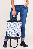 """Спортивно-городская сумка рюкзак с принтом """"Листья"""""""