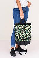 """Спортивно-городская сумка рюкзак с принтом """"Лимоны"""""""