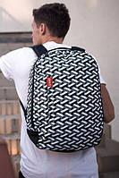 Принтованный городской рюкзак с отделением для ноутбука