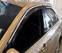 Дефлектор окон Ford Mondeo 2007-2014 Sedan С Хром Молдингом
