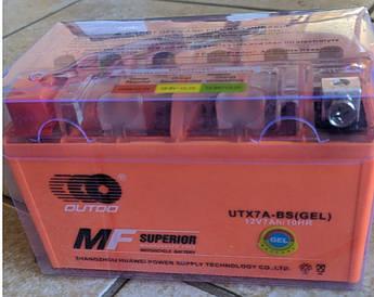 Мото аккумулятор Outdo Gel UTX7A-BS 6мтс 7