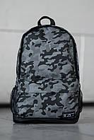 Серый городской рюкзак в камуфляжный принт