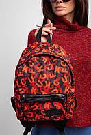 Маленький городской рюкзак с внешним карманом на молнии
