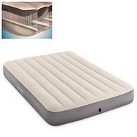 Полутороспальный надувной матрас Intex 64102 137-191-25 см серый