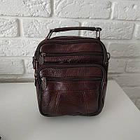 """Мужская кожаная сумка среднего размера коричневая """"Валидо Brown"""", фото 1"""