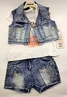 Детский костюм 2 3 4 и 5 лет Турция для девочки детские костюмы джинсовый летний
