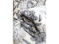 Мягкая махровая простынь  Soft (Бежевые цветы) 200*230