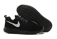 """Кроссовки мужские Nike Roshe Run """"Черные"""", замшевые, р. 41, 42, 43, 45, фото 1"""