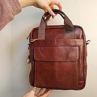 """Большая мужская сумка для документов, деловая """"Шерлок Brown"""", фото 1"""