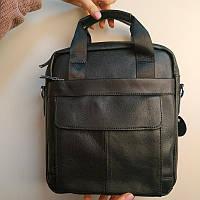 """Большая мужская сумка для документов, деловая """"Шерлок Black"""""""