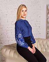 Современная вышитая блуза с машинной вышивкой