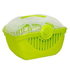 Переноска Moderna Top Runner для животных, пластиковая 39х29х25 см зеленая