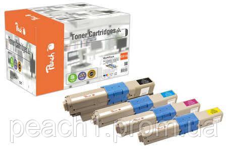 Набор лазерных картриджей (bk, c, m, y) Oki C310/510-series MultiPack