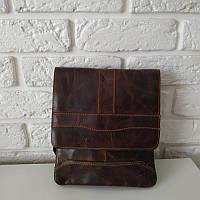 """Вместительная мужская сумка на длинном ремне, винтажный окрас """"Грандж 2"""", фото 1"""