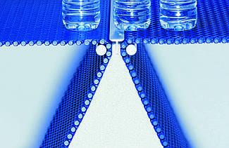 Модульна стрічка Habasit для транспортування соків, вод та консервів