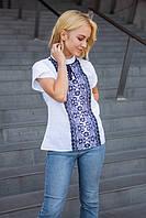 Легкая летняя вышитая блуза с коротким рукавом