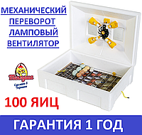 Инкубатор с механическим переворотом яиц Теплуша ИБ-100 яиц 220/50 ЛМ, фото 1