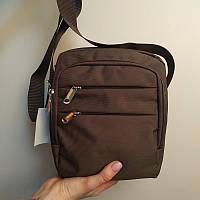 "Удобная сумка-мессенджер из текстиля ""Yangman Small Brown"""