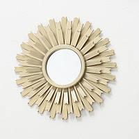 Настенный декор зеркало солнце Лагуна D25cm золото 1013893-2 зубчики