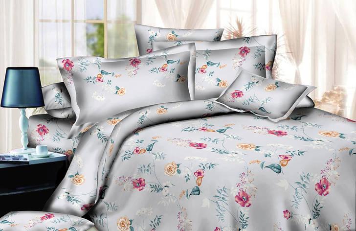 Двуспальный комплект постельного белья евро 200*220 хлопок  (13717) TM KRISPOL Украина, фото 2