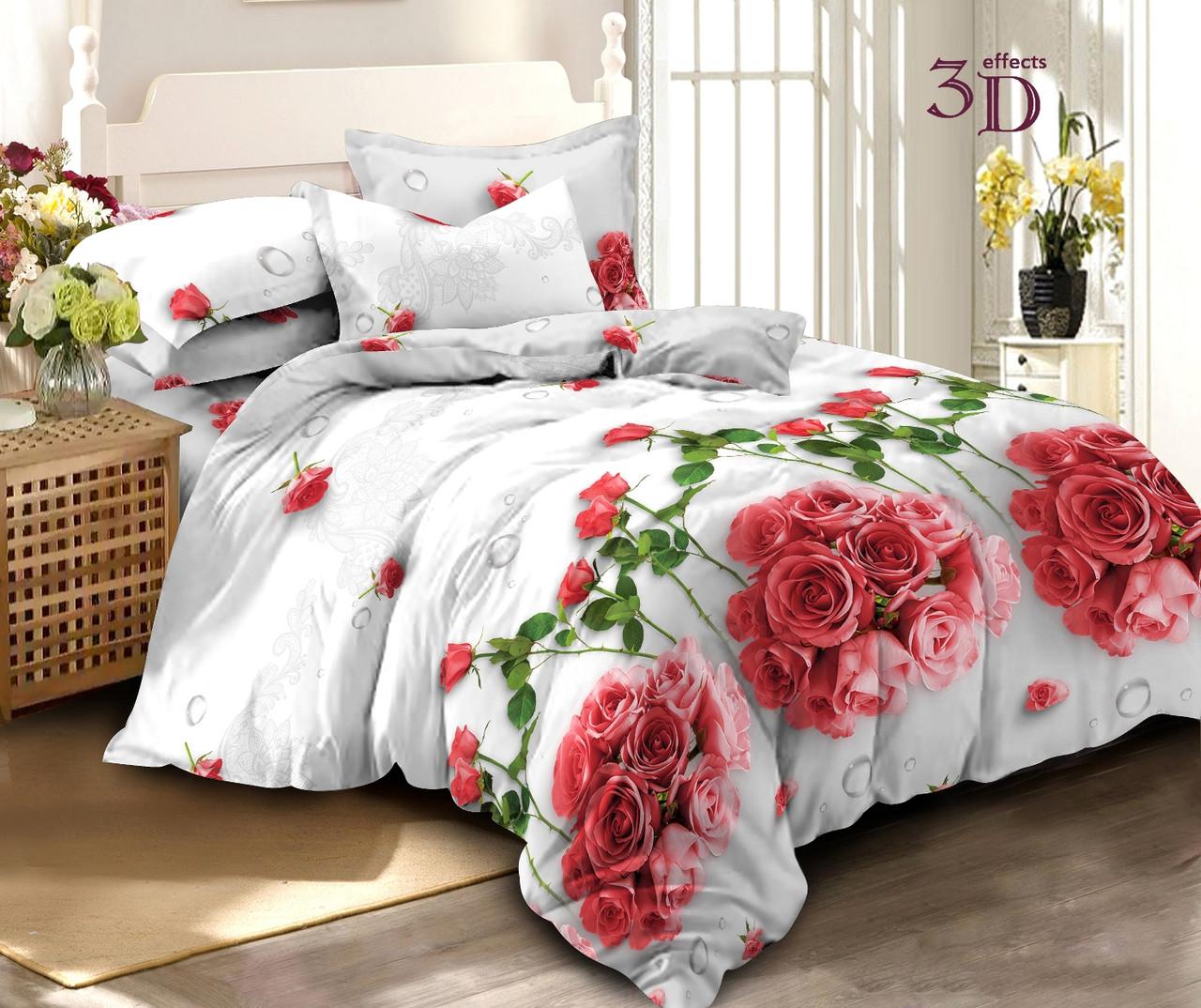 Двуспальный комплект постельного белья евро 200*220 хлопок  (13720) TM KRISPOL Украина