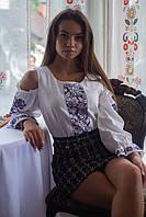 Шикарная домотканая вышиванка с вышивкой крестиком