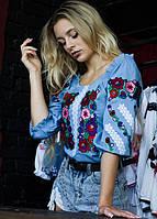 Современная вышитая блуза из хлопка