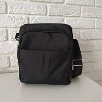 """Удобная сумка-мессенджер из текстиля """"Yangman Medium Black"""""""