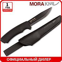Нож Morakniv BushCraft Black High Carbon | туристический нож mora 10791 | мора BushCraft 12490 | Made in Swede