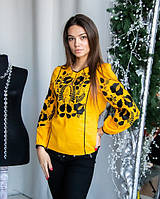 Оригинальная блуза вышиванка с этнической вышивкой