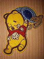 Нашивка клеевая детская Винни и мёд  60х80мм