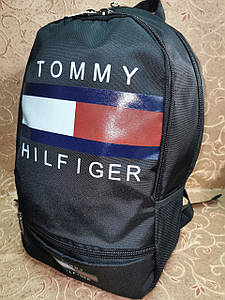 (44*30-большое)Рюкзак спортивный TOMMY HILFIGER Оксфорд ткань 1000D супер печать супер молния городской опт