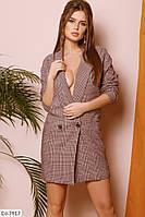 Красивый деловой пиджак на подкладке размеры 42-46 арт 751
