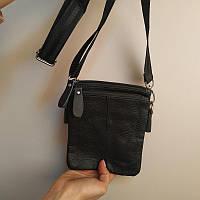 """Мужская кожаная сумка  для мелочей на пояс, на плечо """"Вилмар Black"""", фото 1"""